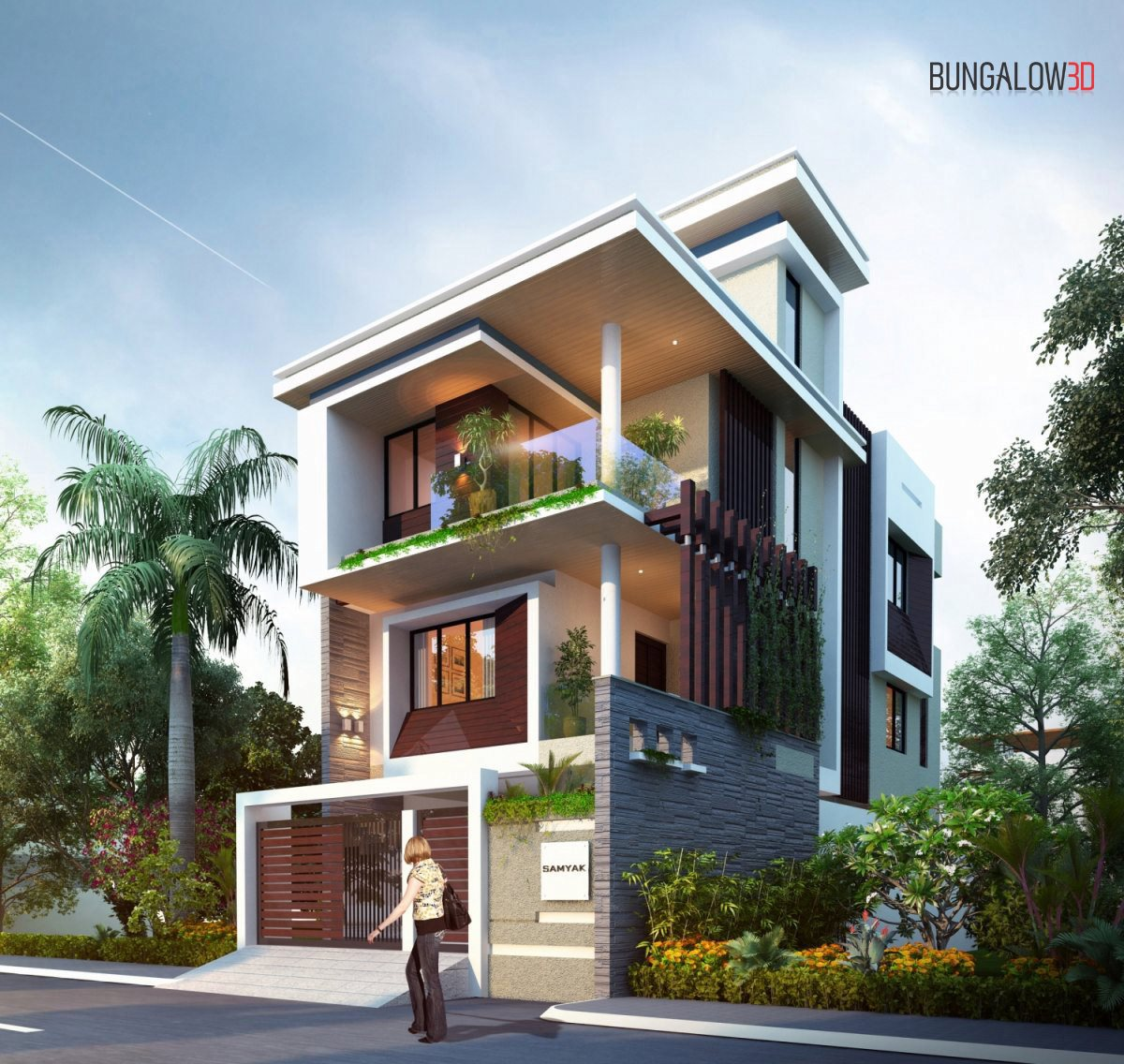 3D rendering 3D visualization service architectural 3D visualization 3D architecture studio bungalow day view